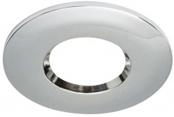 Powermaster Fire Rated IP65 Downlight, Clip-On Chrome Bezel