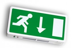 LumiLife 6W LED Emergency Exit Sign - Maintained - Surface Mounted IP65