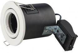 LUMiLife GU10 Fire Rated Fitting, TILT, IP20, White, 85mm Cutout