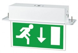 LumiLife 4W LED Emergency Exit Sign - Maintained - Recess