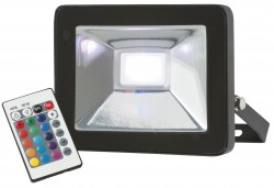 MLA 230V IP65 20W LED Black Die-Cast Floodlight RGB w/remote
