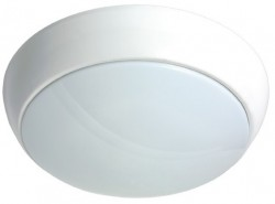 LumiLife 15W LED Bulkhead, IP54, 5000K, 1270lm, 5yrs, Microwave