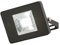 MLA IP65 LED Black 10W Floodlight 4000K, w/Microwave Sensor, FLF10M