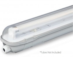 LumiLife LED-Ready IP65 Non-Corrosive Tube Fitting, 4ft Single