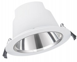 LEDVance LED Downlight Comfort, IP54, 18W, CCT-Switch, 155mm hole