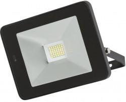 MLA IP65 LED Black 30W Floodlight 4000K, w/Microwave Sensor, FLF30M