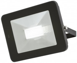 MLA IP65 LED Black 50W Floodlight 4000K, w/Microwave Sensor, FLF50M