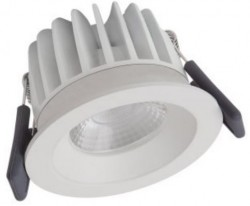 Osram LEDVance Spot, 8W Fixed, IP44, 3000K, White, Dimmable