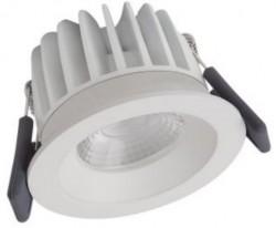 Osram LEDVance Spot, 8W Fixed, IP44, 4000K, White, Dimmable