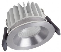 Osram LEDVance Spot, 8W, IP65 Fire-Rated, 3000K, Silver, Dimmable