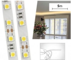 5m LED Strip SMD5050 - 14.4W/m, 1000lm/m, 12V, IP20 Indoor
