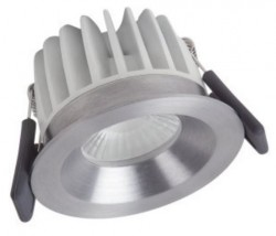 Osram LEDVance Spot, 8W Fixed, IP44, 3000K, Silver, Dimmable