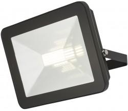 MLA IP65 LED Black 80W Floodlight 4000K, w/Microwave Sensor, FLF80M