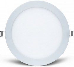 MEGE LED Round Panel, Recess, 12W, 160mm Cut-Out, IP44, 5yrs