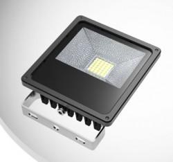 LED Floodlight, *SLIMLINE*, 30W, IP65, COLOURED BEAM