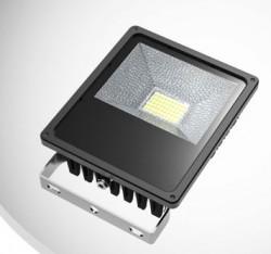 LED Floodlight, *SLIMLINE*, 50W, IP65, COLOURED BEAM