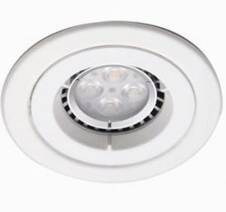 Ansell iCage Mini, Fire Rated Downlight Fitting, FIXED, WHITE