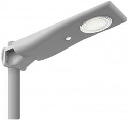 ISL Compact Solar PV LED Site Light, 12W, IP65, PIR & Photocell