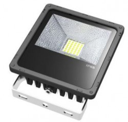 LED Floodlight, *SLIMLINE*, 30W, IP65, COLOURED BEAM