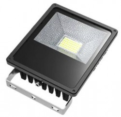 LED Floodlight, *SLIMLINE*, 50W, IP65, COLOURED BEAM