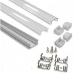 2M Aluminium Strip Profile + PC Cover and Accessories Pack