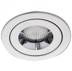 Ansell iCage Mini, Fire Rated Downlight, IP65 Shower, CHROME