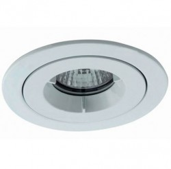 Ansell iCage Mini, Fire Rated Downlight, IP65 Shower, WHITE
