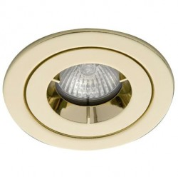Ansell iCage Mini, Fire Rated Downlight, IP65 Shower, BRASS