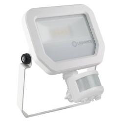 LEDVANCE Flood Light, GEN3 10W, 3000K, 1100lm, WHTE, PIR SENSOR