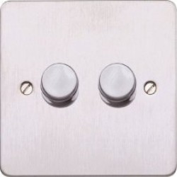 MK Edge K14524BSS 2G DOUBLE LED Dimmer, 8-48W, Br. SS