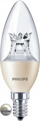 Philips Master LED, Candle, 8W (60W), E14, Clear, *DIMTONE*