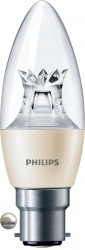 Philips Master LED, Candle, 6W (40W), B22, Clear, *DIMTONE*
