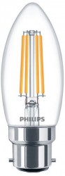 Philips LED Classic Filament Candle 5W=40W, 2700K, B22, Dimmable