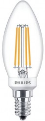 Philips LED Classic Filament Candle 5W=40W, 2700K, E14, Dimmable