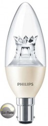 Philips Master LED, Candle, 6W (40W), B15, Clear, *DIMTONE*