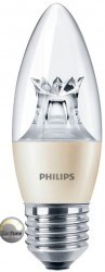 Philips Master LED, Candle, 6W (40W), E27, Clear, *DIMTONE*