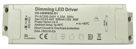 40 Watt TRIAC Dimmable LED Driver - Suitable For LumiLife Panels