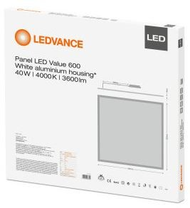 Osram Ledvance Value Panel 600mm X 600mm 40w 4000k 3yrs