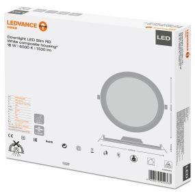 Ledvance 18w Led Round Panel Ip20 210mm Hole 6500k 3yrs
