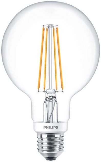 philips led classic globe filament 7w 60w 2700k e27 dimmable. Black Bedroom Furniture Sets. Home Design Ideas