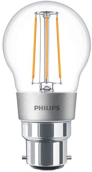 philips led classic filament luster 4 5w 40w 2700k b22 dimmable. Black Bedroom Furniture Sets. Home Design Ideas