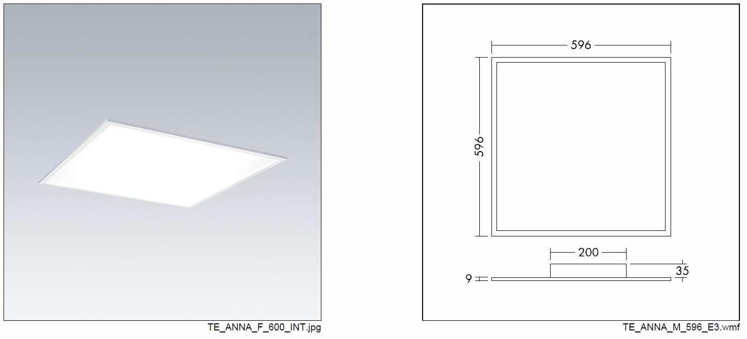 Thorneco Anna Led Panel 600x600 4000k 33w Tpa Rated