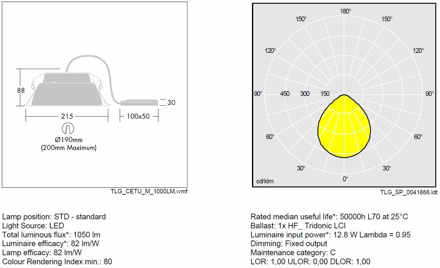 Thorn Emergency Lighting Wiring Diagram Circuit Downlights Cetus Led Downlight 1050lm 840 13w 96242099 Emergencyrh