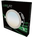 LUMiLife 18W LED Slim Round Panel, 200mm cut-out, CCT-Switchable