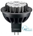 Philips Master LED MR16, AIRFLUX, 8W=50W, 3000K, 24D, Dimmable