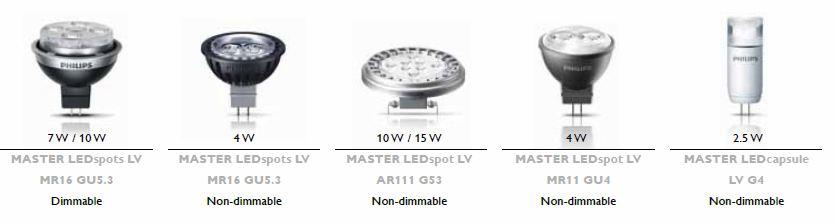 LV lamp range